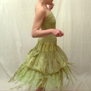 Pear Green Fringe Dress 🍐